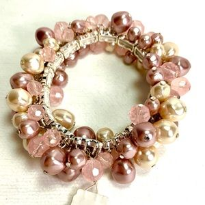 Liz Claiborne Pearls and Beads Bracelet